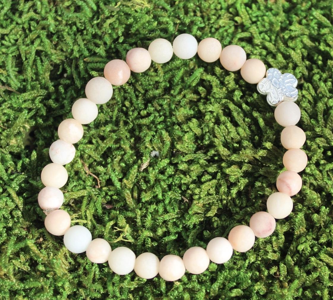 Armband Blume mit Aventurin rosa