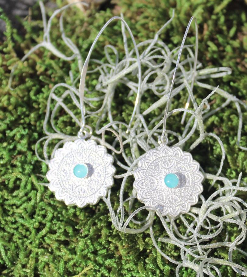 Ohrringe Ornament mit Amazonit
